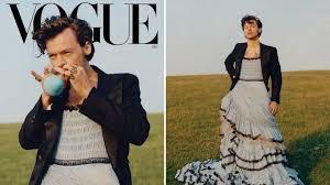 Harry Styles se pone ropa de mujer en la primera portada masculina de la  revista Vogue US